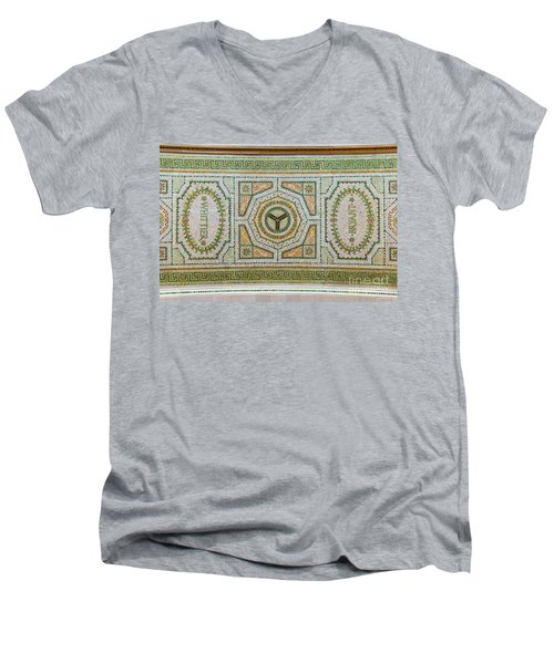 Chicago Cultural Center Ceiling With Y Symbol Men's V-Neck T-Shirt