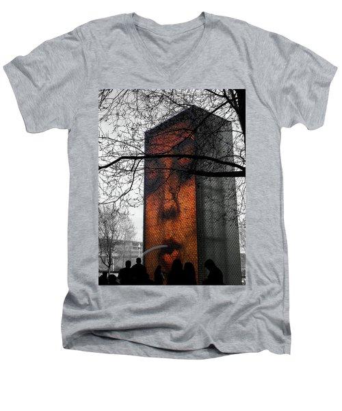 Chicago Love Men's V-Neck T-Shirt by Josy Cue