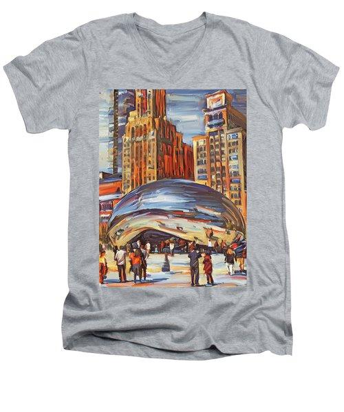 Chicago Millennium 2 Men's V-Neck T-Shirt