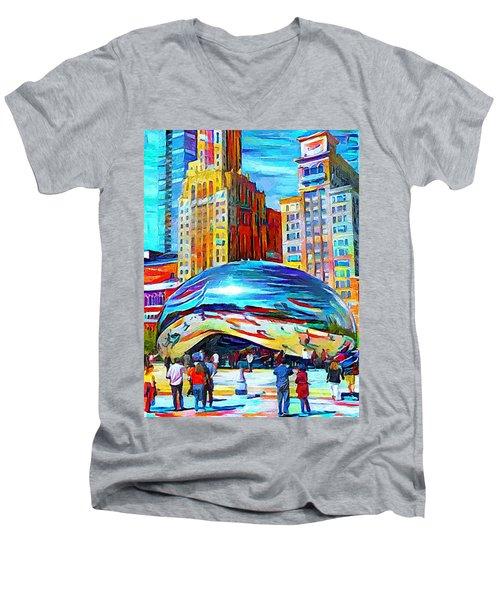 Chicago Millennium  Men's V-Neck T-Shirt