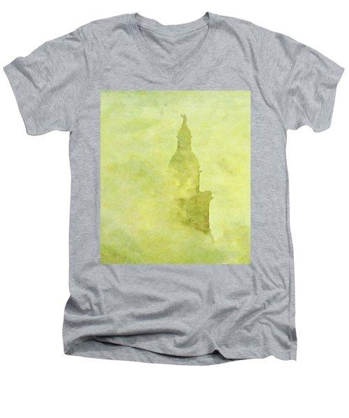 Chicago Steeple Men's V-Neck T-Shirt