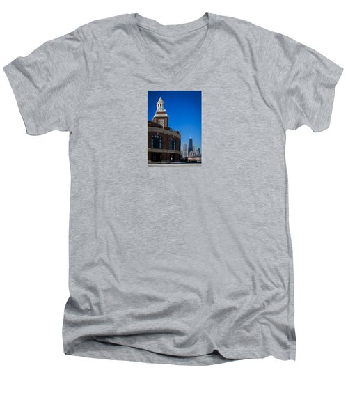 Men's V-Neck T-Shirt featuring the photograph Chicago's Navy Pier by Kathleen Scanlan