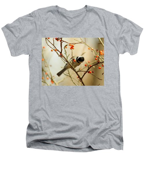 Chickadee 1 Of 2 Men's V-Neck T-Shirt