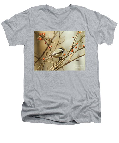 Chickadee 2 Of 2 Men's V-Neck T-Shirt
