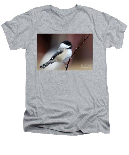 Chickadee Dee Dee Men's V-Neck T-Shirt by Sandra Updyke