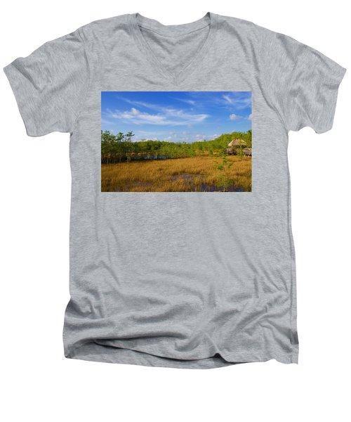 Chickee Hut Men's V-Neck T-Shirt