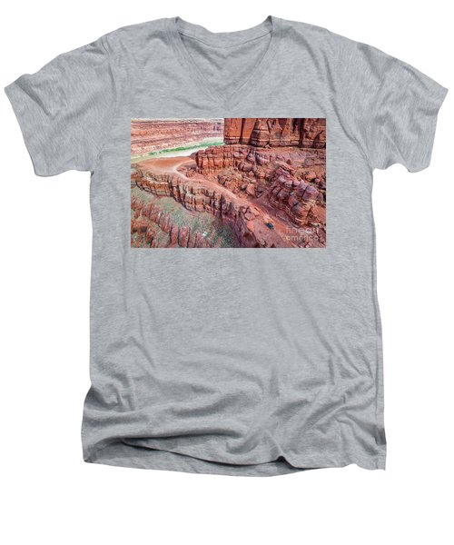 Chicken Corner Trail And Colorado River Men's V-Neck T-Shirt