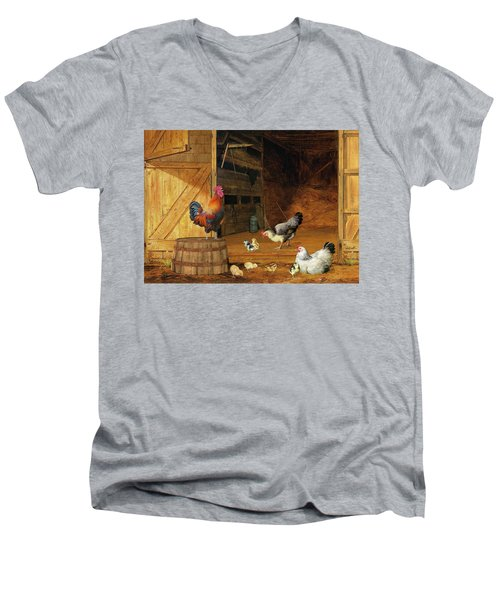 Chickens Men's V-Neck T-Shirt