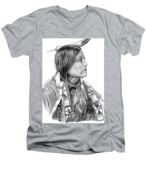 Chief Joseph Of Nes Perce Men's V-Neck T-Shirt