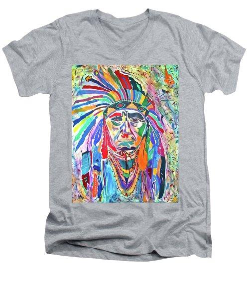 Chief Joseph Of The Nez Perce Men's V-Neck T-Shirt
