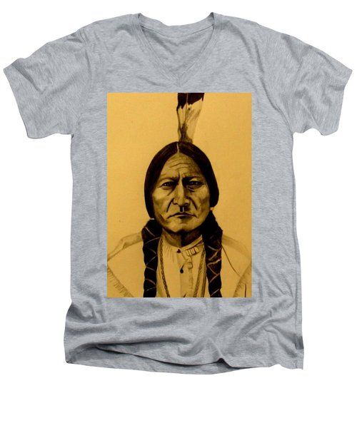 Chief Sitting Bull  Tatanka Iyotake Men's V-Neck T-Shirt
