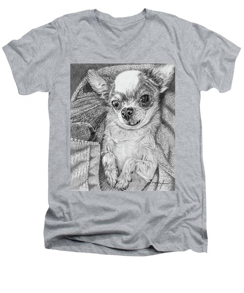 Chihuahua Men's V-Neck T-Shirt