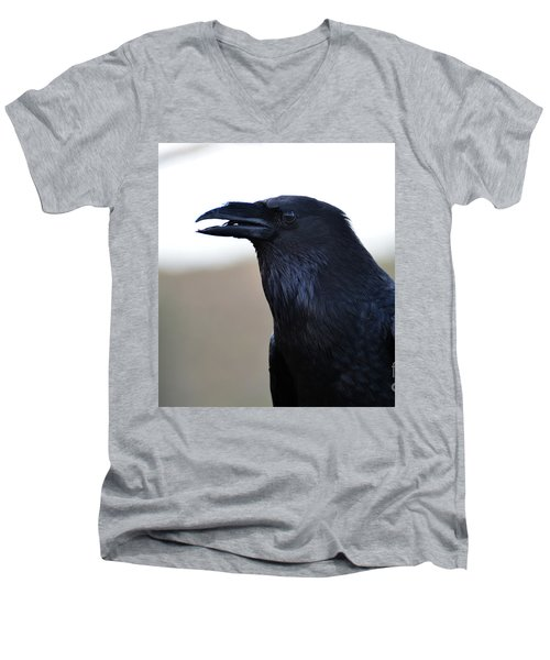 Chihuahua Raven Profile Men's V-Neck T-Shirt