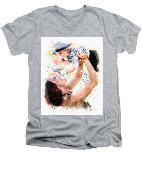 Child In Hand Men's V-Neck T-Shirt