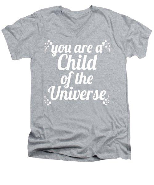 Child Of The Universe Desiderata - Pink Men's V-Neck T-Shirt