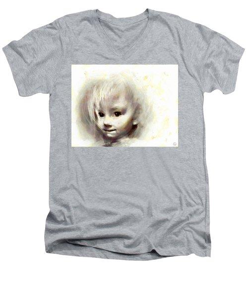 Child Portrait Men's V-Neck T-Shirt by Gun Legler