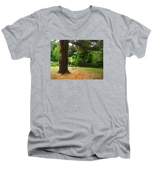 Childhood Men's V-Neck T-Shirt by Betsy Zimmerli