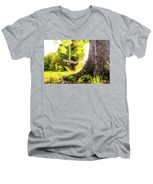 Men's V-Neck T-Shirt featuring the photograph Childhood Memories by Shelby Young