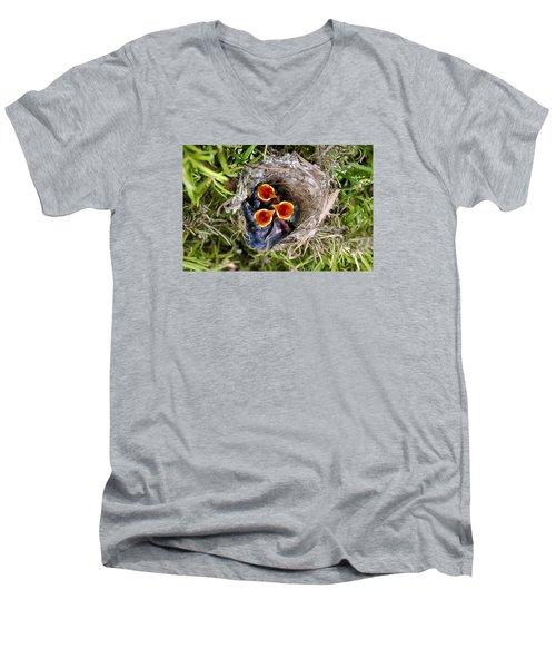 Children Already Born #2 Men's V-Neck T-Shirt by Goyo Ambrosio