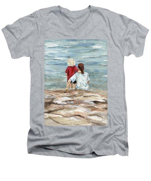 Children By The Sea  Men's V-Neck T-Shirt