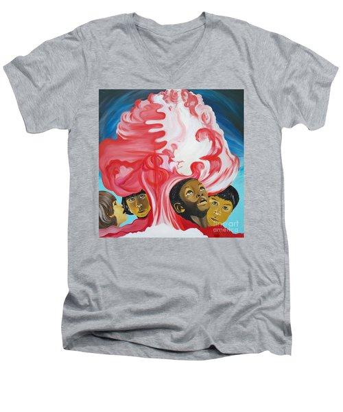 All God's Children.             Children Of The Nuclear Age Men's V-Neck T-Shirt