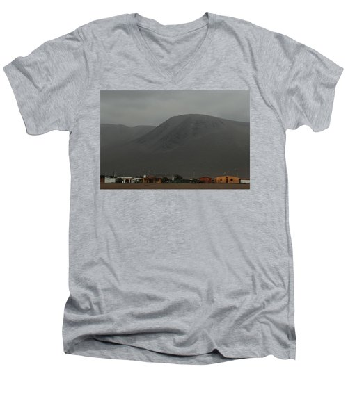 Chilean Village In Atacama Desert Men's V-Neck T-Shirt