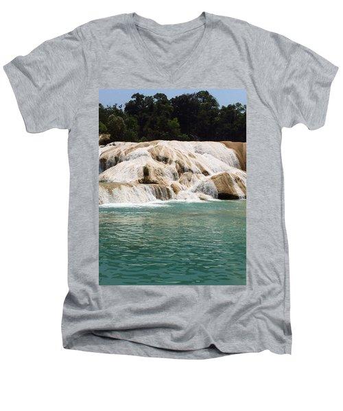 Chilon Waterfall. Men's V-Neck T-Shirt