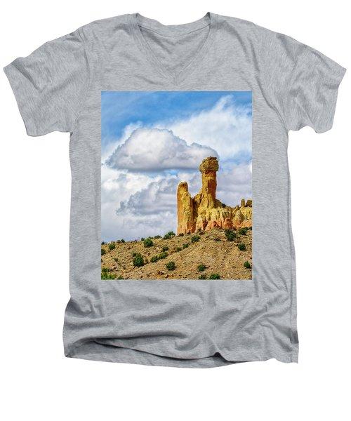 Chimney Rock  Men's V-Neck T-Shirt by Robert FERD Frank