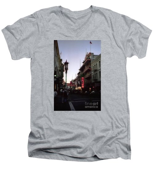 China Town San Francisco  Men's V-Neck T-Shirt