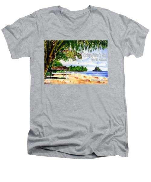 Chinaman Hat Island Shirt Men's V-Neck T-Shirt