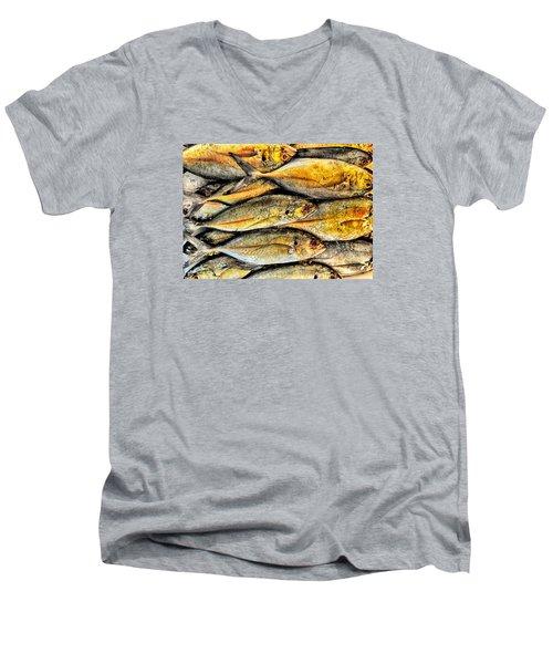 Chinatown Fish Market Nyc Men's V-Neck T-Shirt by Steve Archbold