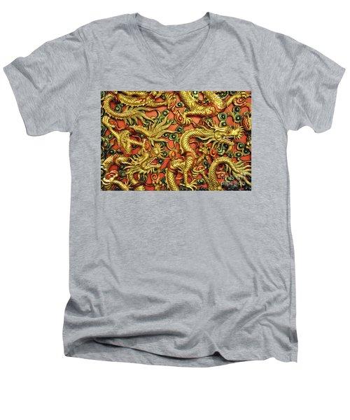 Chinese Dragons Men's V-Neck T-Shirt