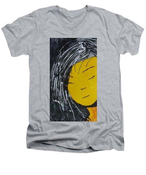 Chinese Japanese Girl Men's V-Neck T-Shirt by Don Koester