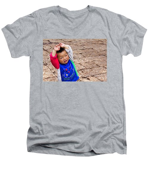 Chinese Boy Joy Men's V-Neck T-Shirt