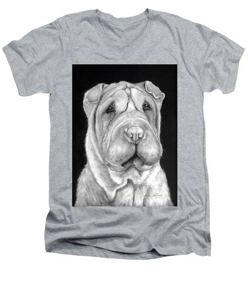 Chinese Sharpei Men's V-Neck T-Shirt