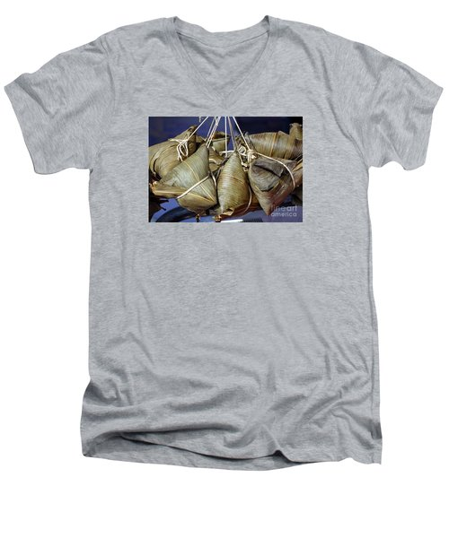 Chinese Sticky Rice Dumplings Men's V-Neck T-Shirt
