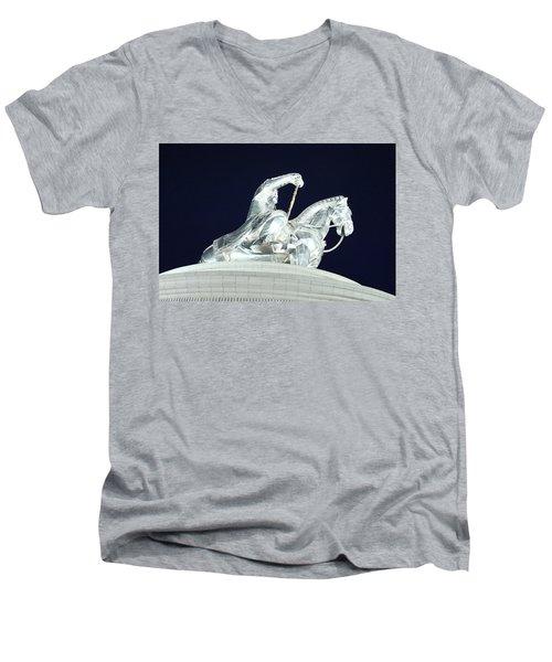 Chinggis Khan/tsagaan Sar Men's V-Neck T-Shirt by Diane Height