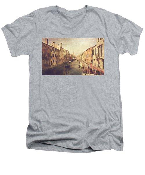 Chioggia Men's V-Neck T-Shirt by Vittorio Chiampan