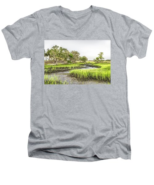 Chisolm Island - Low Tide Men's V-Neck T-Shirt