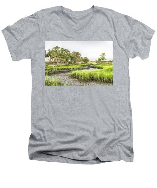 Chisolm Island - Low Tide Men's V-Neck T-Shirt