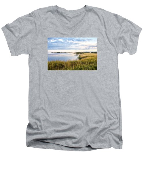 Chisolm Island Shoreline  Men's V-Neck T-Shirt
