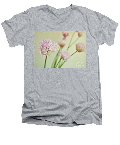 Chives In Flower Men's V-Neck T-Shirt