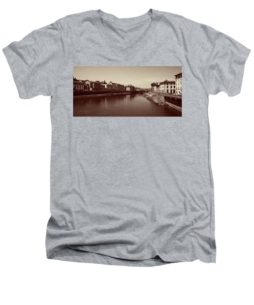 Chocolate Florence Men's V-Neck T-Shirt by Joseph Westrupp