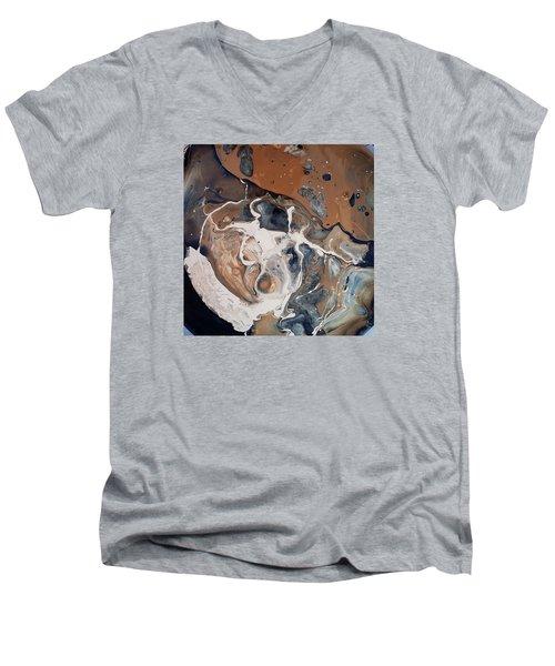 Chocolate Ice Cream Vulture Beek Men's V-Neck T-Shirt by Gyula Julian Lovas