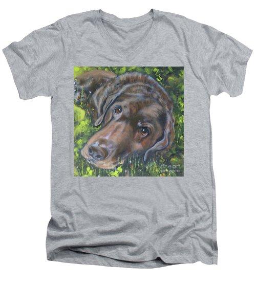 Chocolate Lab Men's V-Neck T-Shirt