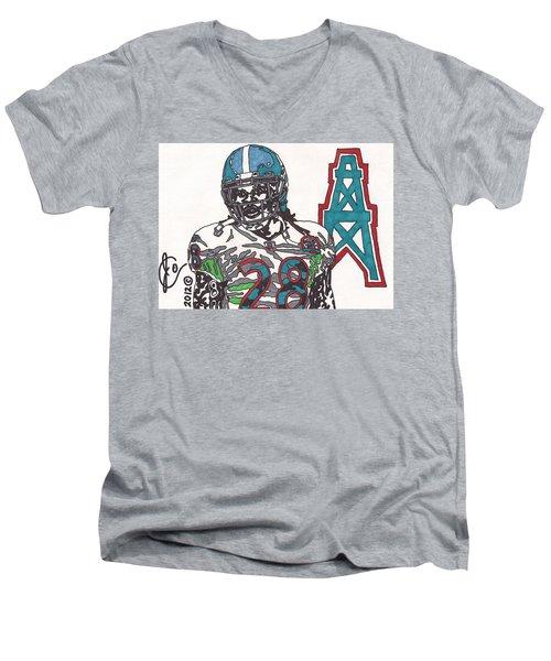 Chris Johnson  Men's V-Neck T-Shirt by Jeremiah Colley