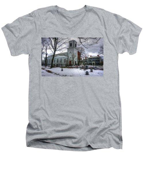 Christ Church In Cambridge Men's V-Neck T-Shirt