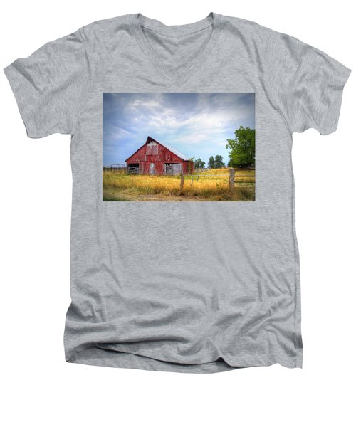 Christian School Road Barn Men's V-Neck T-Shirt