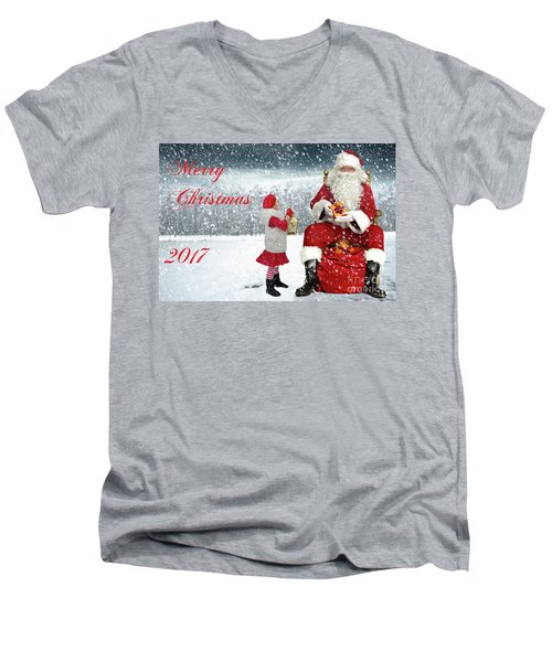 Christmas 2017 Men's V-Neck T-Shirt