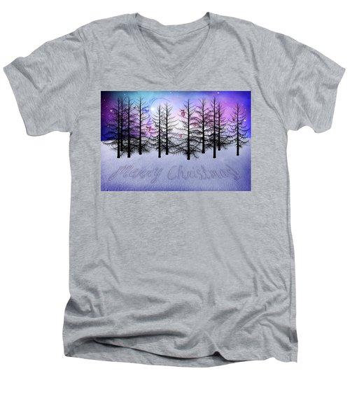 Christmas Bare Trees Men's V-Neck T-Shirt